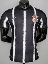 21-22 Corinthians Away Black Player Version Soccer Jersey