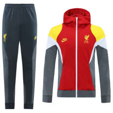 21-22 LIV Red Grey White  Hoodie Jacket Tracksuit