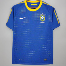 2010 Brazil Away Retro Soccer Jersey