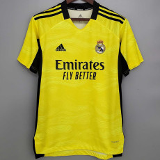 21-22 RMA Yellow Goalkeeper Soccer Jersey