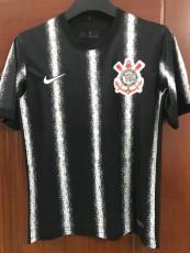 21-22 Corinthians Away Black Fans Soccer Jersey