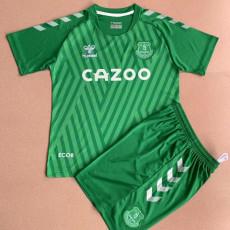 21-22 EVE Green Goalkeeper Kids Soccer Jersey
