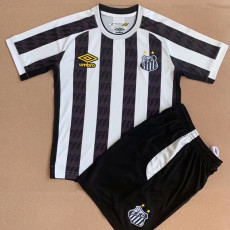 21-22 Santos Home Kids Soccer Jersey