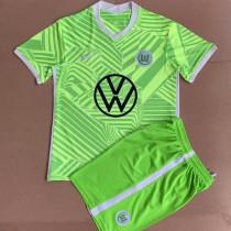 21-22 Wolfsburg Home Kids Soccer Jersey