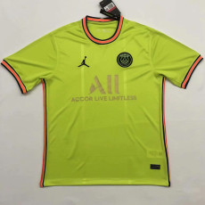 21-22 PSG Yellow Special Edition Fans Soccer Jersey