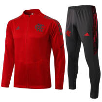21-22 Flamengo Red Half Pull Sweater Tracksuit