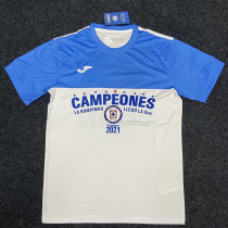 2021 Cruz Azul CAMPEONES Soccer Jersey
