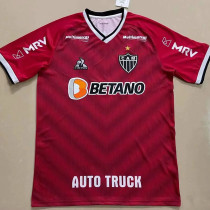 21-22  Atletico Mineiro (all Sponsors) Red Fans Soccer Jersey