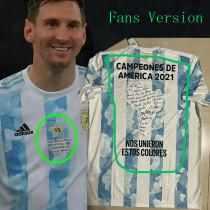 CAMPEONES DE AMERICA 2021 Argentina Home 1:1 Fans Soccer Jersey(球迷版)
