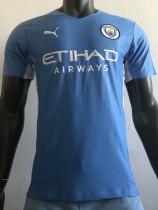 21-22 Man City Home Player Version Soccer Jersey