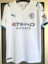 21-22 Man City 1:1 Away Fans Soccer Jersey