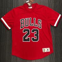 BULLS JORDAN # 23 Red MitchellNess Retro Jerseys