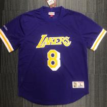 Lakers BRYANT # 8 Purple MitchellNess Retro Jerseys