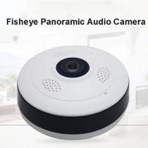 960P Full HD Fisheye Panoramic Audio Camera Home Security CCTV Support TF Card