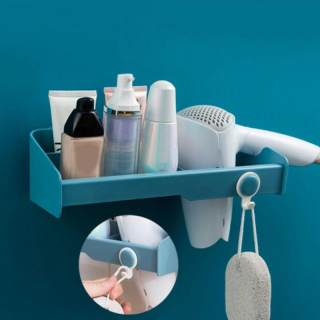 No Punching Toilet Shelf Hair Dryer Wall Hanging Storage Rack