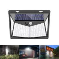 LED Outdoor Human Motion Sensing Lamp Solar Powered Wall Light 3 Modes