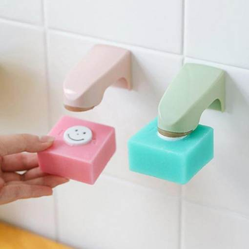 2pcs Bathroom Wall Mounted Soap Holders