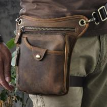 Men's Vintage Leather Motorcycle Riding Messenger Cross Body Shoulder Bag