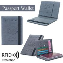 Business Passport Cover Solid Credit Card Holder Unisex Travel Wallet Bag