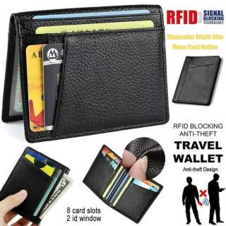 8 Card Slots Flip ID Window Slots Driver License ID Cards Business Wallet Bag