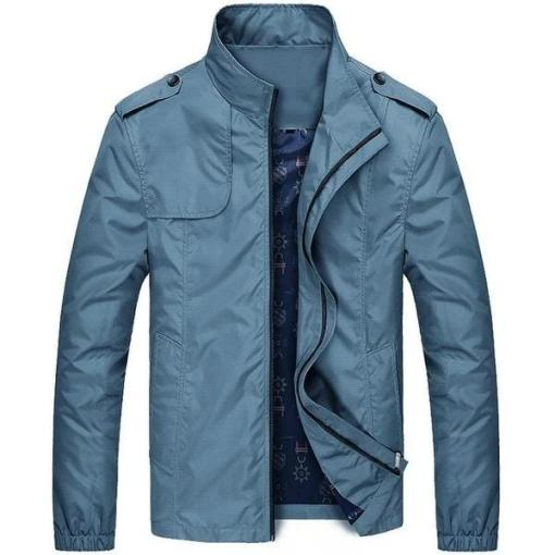 Men Stand Collar Waterproof Casual Zipper Jackets