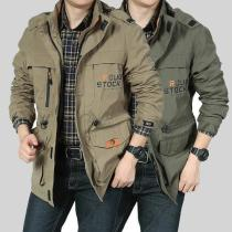 Men Multi-pocket Waterproof MilitaryHat Detachable Outdoor Jacket