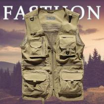 Men's Outdoor Mesh Quick-drying Multi-bag Fishing Photography Vest