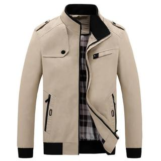 Men's Classic Casual Grid Long Sleeve Jacket