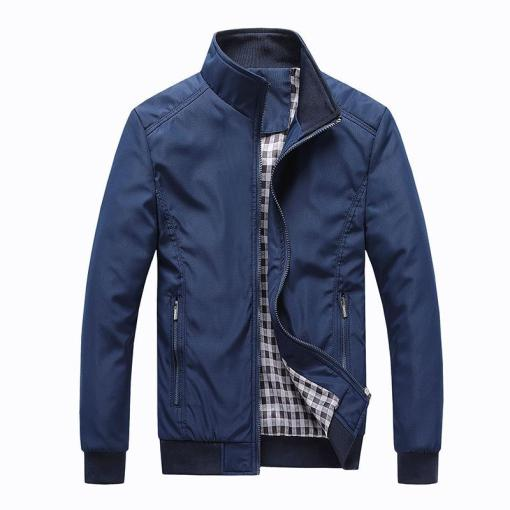 Men's Stand Collar Casual Trench Jacket