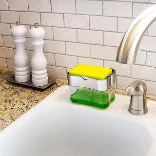 Kitchen 2-in-1Sponge Holder Soap Pump Dispenser