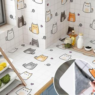 Kitchen Oil Proof Waterproof Wall Sticker Removable Self-sticker Wallpaper Home Decor