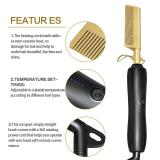 Hair Straightener Flat Irons Hot Heating Corrugation Curling Iron Hair Curler Comb
