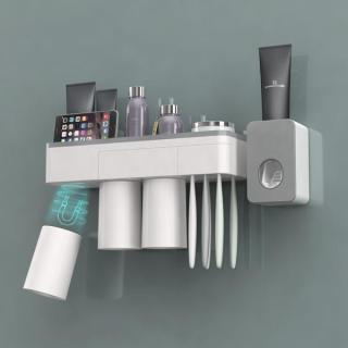Magnetic Adsorption Inverted Toothbrush Holder Wall Mounted Bathroom Accessories Set