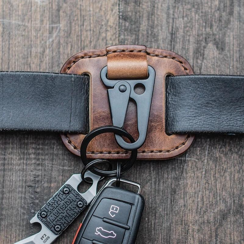 Men Genuine Leather Portable Fashion Key Bags