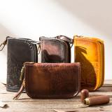 Handmade Leather Mens Small Car Key Wallet