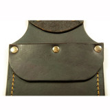 Leather Flap Pocket Sheath With Belt Loop