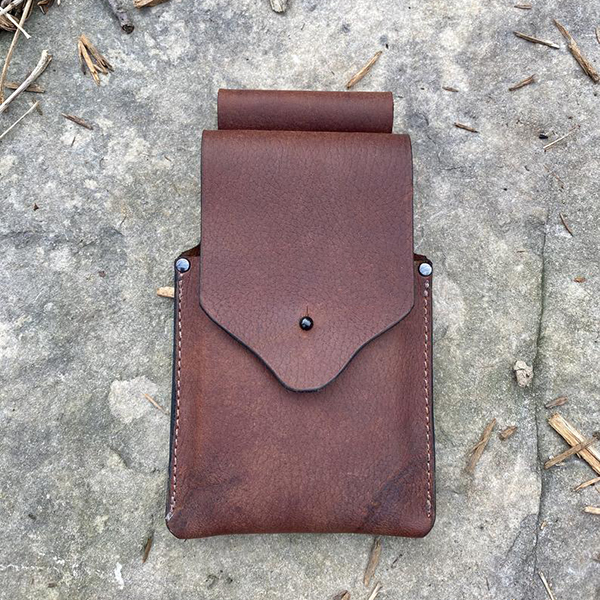Minimalism Leather Belt Wear Phone Carrier Pouch Case