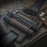 Unique Vintage Leather Multitool Sheath Belt Loop Waist Bag