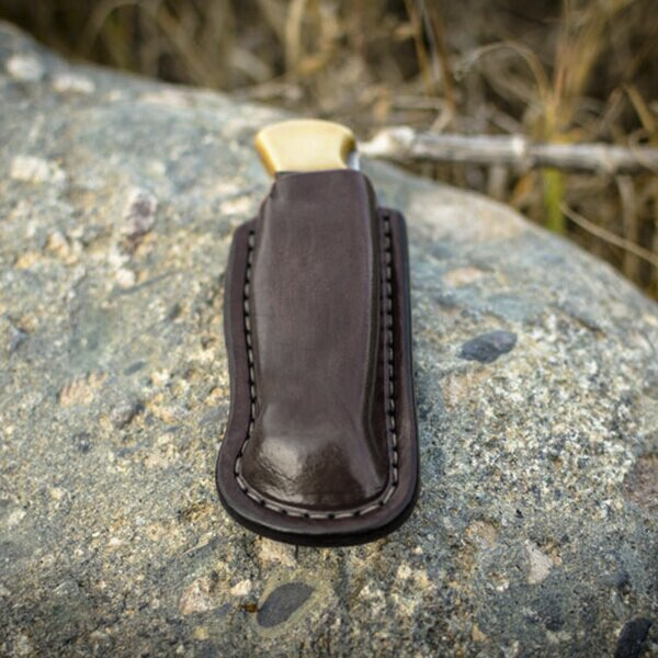 Outdoor Hunter Belt Clip Leather Pocket Sheath
