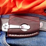 Leather Horizontal Carry Multitool Sheath