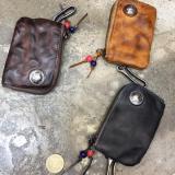 Men Small Coin Card Holder Car Key Wallet