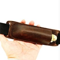 Retro Horizontal Carry Leather Buck 110 Multitool Sheath