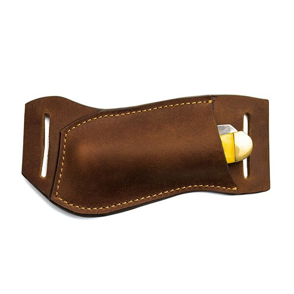 Handmade Pancake Style Trapper Multitool Men Belt Sheath