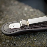 Outdoor Hunter Belt Clip Leather Pocket Sheath