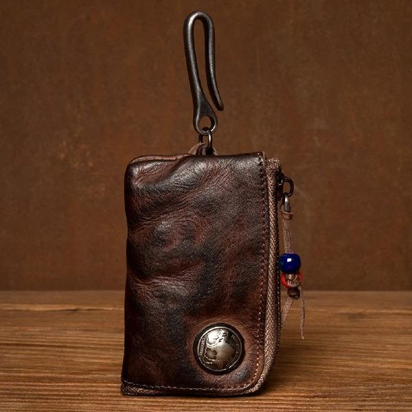 Men Small Coin Card Holder Car Key Wallet