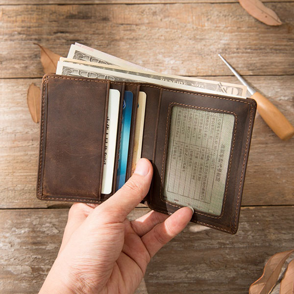 Men's Short Simple Retro Ultra-thin Wallet
