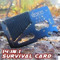 14 In 1 Multi-function Survival Card