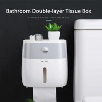 Bathroom Punch Free Double-layer Tissue Box Water-resistant Storage Rack