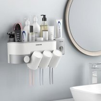 Toothpaste Dispenser Wall Hanging Bathroom Accessories Toothbrush Holders