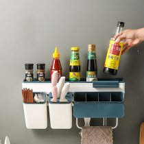 Kitchen Storage Box Household Wall-Mounted Hanger Rack Holder